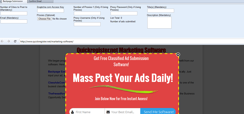 Windows 7 Backpage Easy Ad Submitter 3.4 full