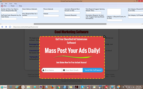 Global Free Classified Ad Submitter screenshot
